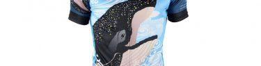 和柄半そでジャージ 宙鯨(sorakujira)