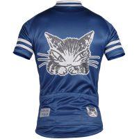 猫のダヤン ネイビー 半袖サイクルジャージ