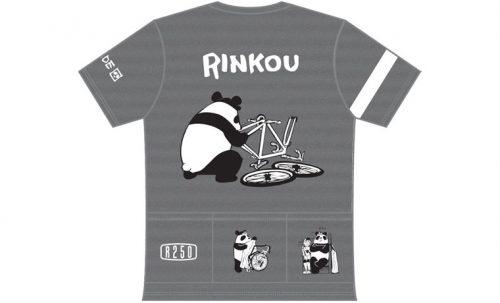 R250 GORIDE 3バックポケット付きTシャツ 輪行パンダ