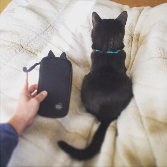 ポケマル にゃ~ポーチ 猫耳ブラック