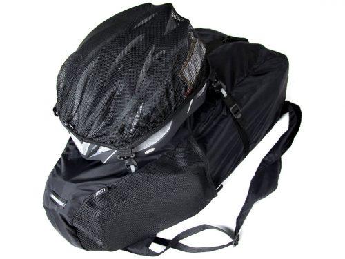 R250 ヘルメットホルダー付き大型サドル用バックパック